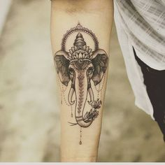 """Tattoo envy! I've always loved Ganesh. Many obstacles have been in my path lately so it seems fitting Ganesh has been on my mind. #tattooenvy…"""