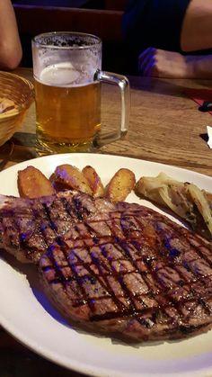 pinte de cuvée des troll avec un steak de 600g au roy des gueux