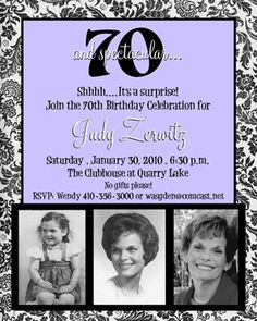 Invitations, Announcements, and 75th Birthday Parties, Adult Birthday Party, Minnie Birthday, 80th Birthday, Birthday Ideas, 90th Birthday Invitations, Garden Party Invitations, Happy Birthday Grandma, Making Ideas