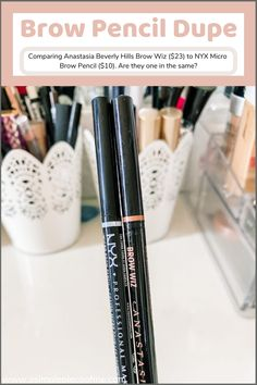 Comparing a very known $23.00 brow pencil to a $10.00 brow pencil. Are they one in the same? Youll be surprised! Visit www.asimplepieceofme.com for more details! #makeup #affordablemakeup #beautydupes #makeupdupes #dupes #brows #affordable