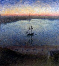 Eugene Jansson Stдmningen i mitten av sommaren. 1898