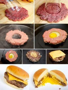 Funny pictures about 21 Food Hacks That'll Make You Run For The Kitchen. Oh, and cool pics about 21 Food Hacks That'll Make You Run For The Kitchen. Also, 21 Food Hacks That'll Make You Run For The Kitchen photos. Burger Recipes, Yummy Burger, Burger Ideas, Sushi Roll Recipes, Creative Food, Food Hacks, Snack Hacks, Love Food, Foodies