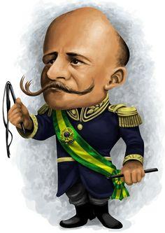 #Caricatura de #Hermes da Fonseca, presidente da República de 15/11/1910-15/11/1914.