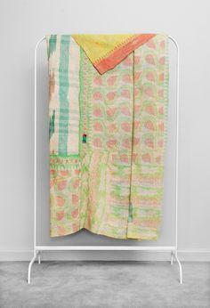 Kantha Quilt Sorbet Sunrise by Fossik