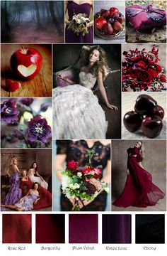 Red Plum Purple Enchanted Forest Inspiration Board