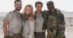 Tom Cruise & The Mummy Cast Unite in First Official Photo -- Annabelle Wallis tweets out a Mummy cast photo that shows co-stars Tom Cruise, Jake Johnson & Courtney B. Vance in costume. -- http://movieweb.com/mummy-2017-reboot-tom-cruise-cast-photo/