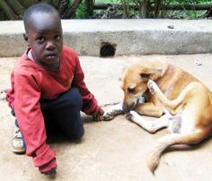 Little Elijah: doing well at Child of Hope school after all he's been through...