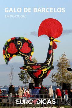 O Galo de Barcelos é o símbolo de Portugal e representa o país nos quatros cantos do mundo. Saiba sobre. Belem Portugal, Rooster Art, Azores, Portuguese, Eurotrip, Cartoon, Showroom, Traveling, Teaching