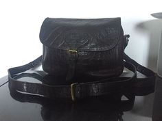 c853ab3b7735 Authentic MULBERRY black VINTAGE satchel saddle BAG cross body REAL LEATHER
