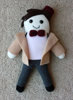 OMG! I need all of these!!!! Doctor Who 11th doctor 11 plush toy doll bow tie by TheHappyMaker, $20.00