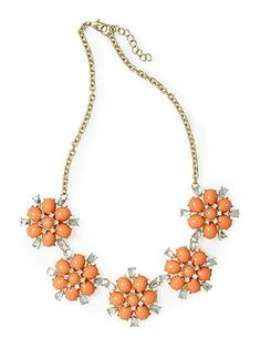 This would be so cute with navy! Pim + Larkin Flower Bauble Necklace   Piperlime