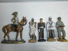 Konvolut 5 große alte historische Massesoldaten zu 12cm | eBay