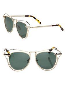 fda61bc5483 Karen Walker NWT Marguerite Cutout Cat Eye Gold Tone Sunglasses Retail  320   KarenWalker  CatEye