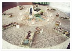 diy vintage rustic table setting/place names