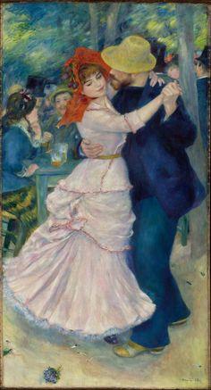 Dance at Bougival (La danse à Bougival) by Pierre-Auguste Renoir,