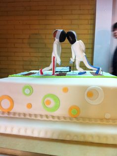 Fencing cake! Repinned by Hub City Fencing Academy of Edison, NJ.