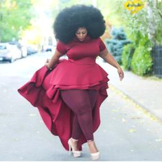 Friday style inspiration featuring plus size model Nakitende Esther Thick Girl Fashion, Plus Size Fashion For Women, Curvy Women Fashion, Look Fashion, Look Plus Size, Plus Size Model, Curvy Girl Outfits, Plus Size Outfits, Xl Mode