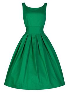 Lindy Bop  Lana  Vintage Inspired Green Party Swing Dress (L 42cccee609