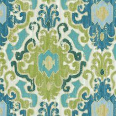 """SMC Swavelle Millcreek Print Fabric 54""""-Toroli Twill Aqua"""