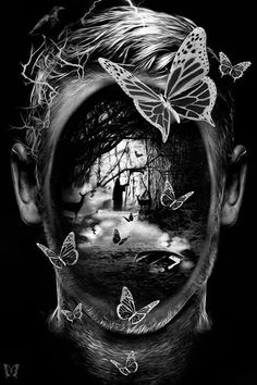 """""""Horror is the removal of masks"""" - Robert Bloch"""
