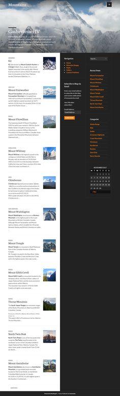 The Great Mountains of the World Desktop Screenshot, Mountains, Website, Design, Design Comics, Bergen