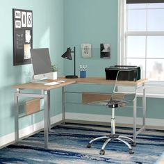 Latitude Run Tiano L-Shape Credenza desk & Reviews | Wayfair
