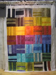 Deb Rowden's Thrift Shop Quilts  This seems like a contemporary fence rail and would be another great way to use leftover strips.