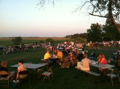 Lots of folks enjoying the music and the beautiful view at an Ardon Creek music event.