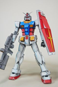 Custom Build: MG 1/100 RX-78-2 Gundam Ver. 2.0 Anime Style Colors - Gundam Kits Collection News and Reviews