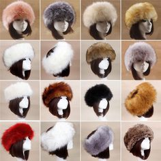 Modern Flower Parallel Baroque Pattern Winter Earmuffs Ear Warmers Faux Fur Foldable Plush Outdoor Gift
