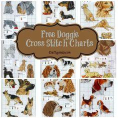 free-dog-cross-stitch-charts-puppy-terrier-bull-shepard-dashchund                                                                                                                                                                                 More