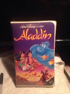 Aladdin (VHS 1993) - Walt Disney's Black Diamond Classic. Rare