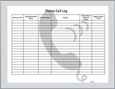 phone call templates