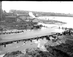 Lake Union dam washout, 1914