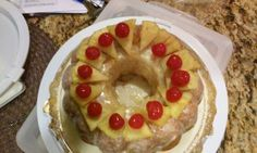 Pineapple cake top view