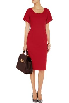 P is for Power - Goat Thea wool-crepe dress #THEOUTNETabc #PowerDressing #SeeItShopIt