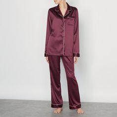 Imagen de Pijama estilo masculino de satén LOUISE MARNAY