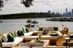 Luxe lounge bar settings at Matilda Bay www.villakula.com.au