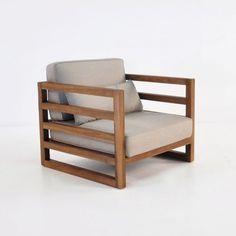 sof de madera de teca y poli ster montevideo leroy