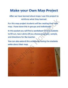 Make Your Own Map Project from Adventures in Third Grade on TeachersNotebook.com -  (6 pages)  - This is a great activity/project to do to help reinforce concepts of a map.