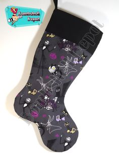 Nightmare Before Christmas Fully Lined Christmas Stocking by BombshellDepot on Etsy