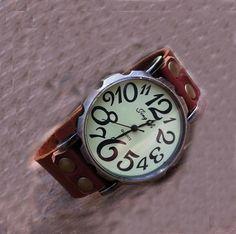 Stan vintage watches — Vintage Retro Style Leather Wrist Watch (WAT00126)