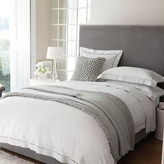 Santorini Bed Linen. This would be so pretty with a light color on the walls.