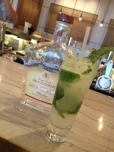 Troy and Sons ... wonderful smooth modern moonshine from AVL ... great in mixed drinks, like a Moonshine Mojito