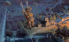 Drop Zone: St. Mere Eglise by Larry Selman, reproductions available at www.larryselman.com