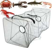 Special zipper design for easy take out the fish, crab, lobster and crawfish. put away the net from the river when lots of fish swim above the trap net. Designed to be a trap cage, it can help you get fish easily. Bass Fishing Tips, Trout Fishing, Saltwater Fishing, Kayak Fishing, Crab Net, Cage, Ice Fishing House, Bait Trap, Prawn Shrimp
