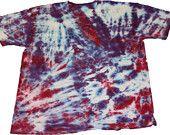 Red & Purple Tie-Dye handmade tshirt Tee Large