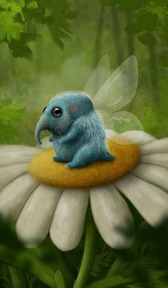 Cute Fantasy Creatures, Cute Creatures, Magical Creatures, Cute Monsters Drawings, Animal Drawings, Illustrations, Illustration Art, Creature Concept, Monster Art