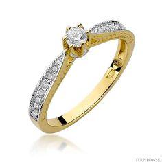 Pierścionek w żółtym złocie próby 585 model W-202 Brylanty 0,30 | BIŻUTERIA \ Złoto \ Pierścionki \ żółte złoto \ z brylantami BIŻUTERIA \ Pierścionki zaręczynowe \ żółte złoto \ z brylantami | - Terpiłowski