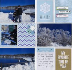winter scrapbooking, vacation scrapbooking